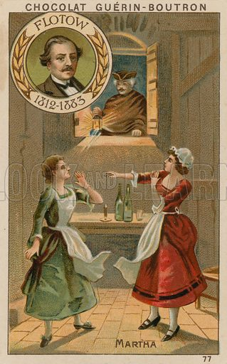 Flotow, Martha.  Card published by Guerin-Boutron, c 1900.  Chromolithograph.