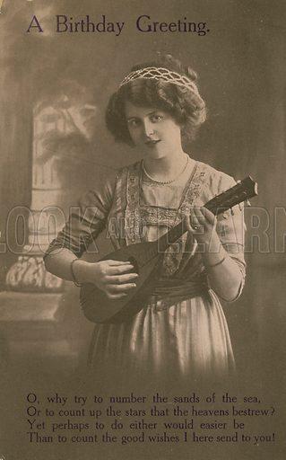 Girl with a mandolin.