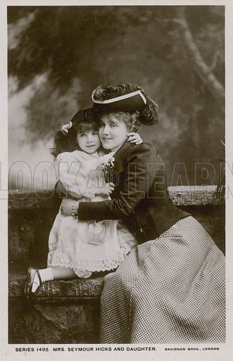 Mrs Seymour Hicks and daughter.