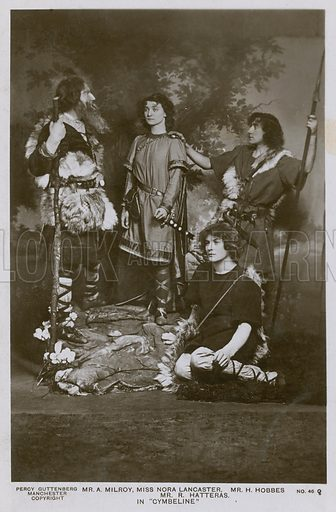 Mr A Milroy, Miss Nora Lancaster, Mr H Hobbes and Mr R Hatteras, in Cymbeline.