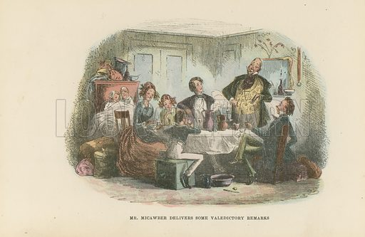 Mr Micawber. Illustration for David Copperfield by Charles Dickens (Chapman & Hall, c 1900).
