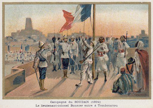 Bonnier enters Timbuktu,  picture, image, illustration