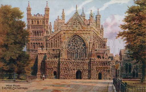 Exeter Cathedral. West Front.