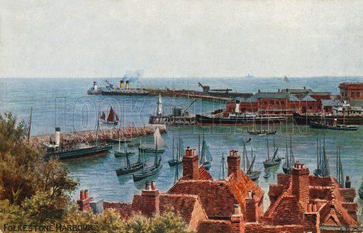 Folkestone Harbour.