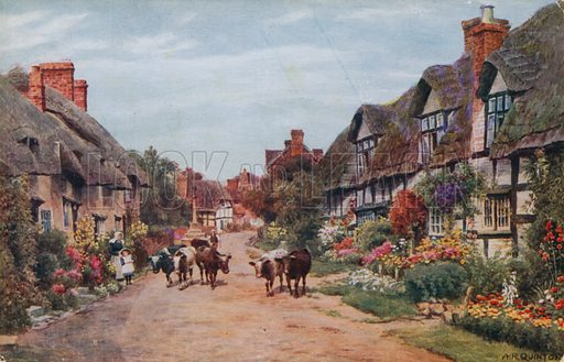 Wrye Village, Lancashire.