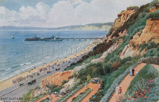 East Cliff and Zig Zag, Bournemouth.