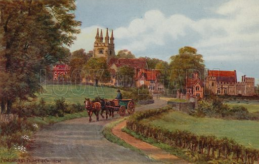 Penshurst Place and Church.