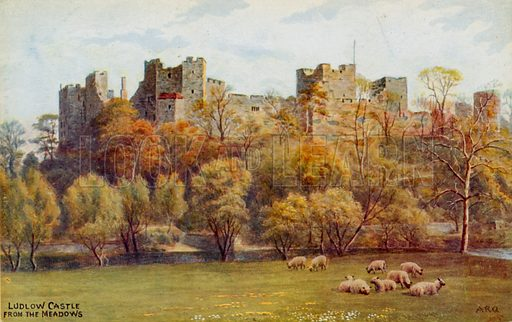 Ludlow Castle from the Meadows.