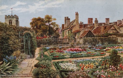 Shakespeare's Knot Garden, New Place, Stratford-on-Avon.