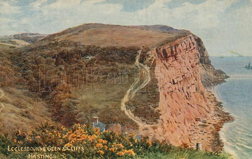 Ecclesbourne Glen and Cliffs, Hastings.