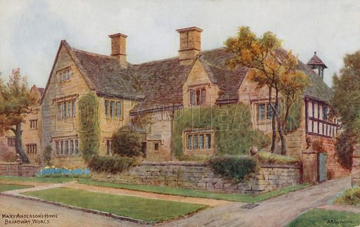 Mary Anderson's Home, Broadway Worcestershire.