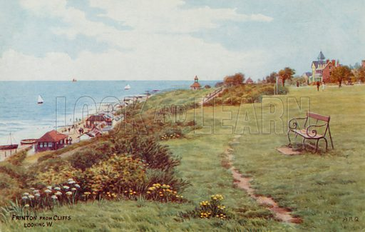 Frinton from Cliffs, looking West.
