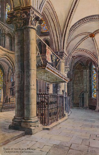 The Tomb of the Black Prince, Canterbury Cathedral.