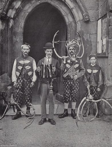 The Horn Dance, Abbots Bromley, Four of the Performers