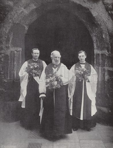 Distributing Maundy Money, the Lord High Almoner and Clergy. Photograph from Sir Benjamin Stone's Pictures (Cassell, c 1900).