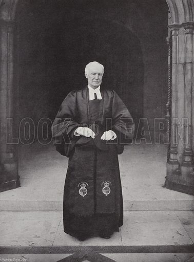 The Chaplain of the House of Commons, Archdeacon Wilberforce. Photograph from Sir Benjamin Stone's Pictures (Cassell, c 1900).
