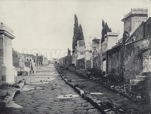Street of Tombs, Pompeii, Italy. Photograph from Shepp's Photographs of the World (Globe Bible Publishing, c 1890).
