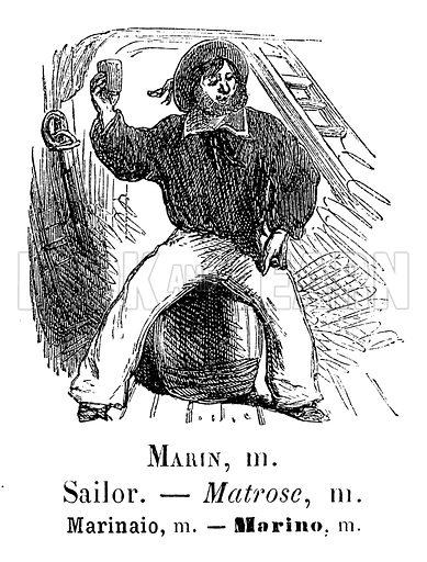 Sailor. Illustration for Album Vocabulaire (Furne, Jouvet et Cie, c 1880).