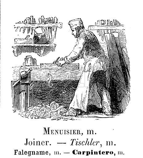 Joiner. Illustration for Album Vocabulaire (Furne, Jouvet et Cie, c 1880).