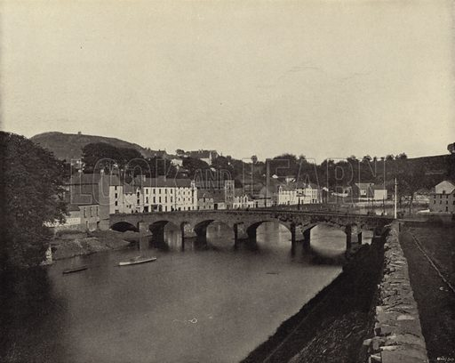 Enniscorthy and Vinegar Hill, County Wexford. Photograph from Ireland in Pictures (JS Hyland & Co, c 1900).