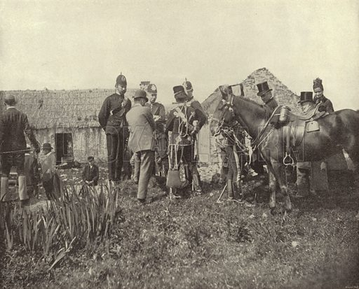 Eviction Scene, Vandeleur Estate, County Clare. Photograph from Ireland in Pictures (JS Hyland & Co, 1888).