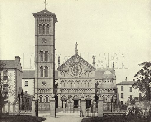 Thurles Cathedral, County Tipperary. Photograph from Ireland in Pictures (JS Hyland & Co, 1888).