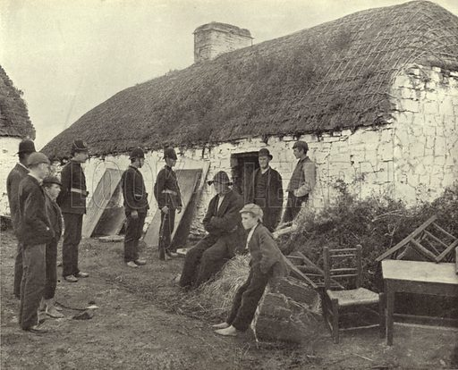 Eviction Scene, County Clare. Photograph from Ireland in Pictures (JS Hyland & Co, 1888).