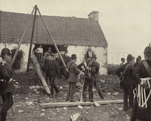 Eviction Scene. Photograph from Ireland in Pictures (JS Hyland & Co, 1888).