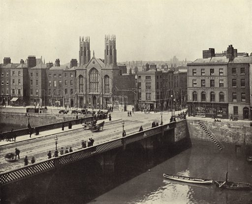 Grattan Bridge, Dublin. Photograph from Ireland in Pictures (JS Hyland & Co, 1888).