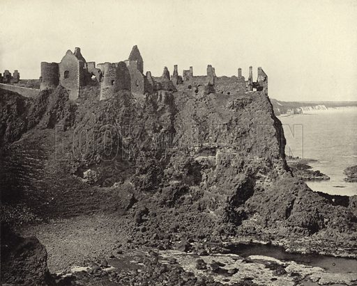 Dunluce Castle, County Antrim. Photograph from Ireland in Pictures (JS Hyland & Co, 1888).