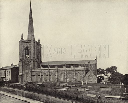 Parish Church, Enniskillen, Co. Fermanagh. Photograph from Ireland in Pictures (J S Hyland & Co, 1888).