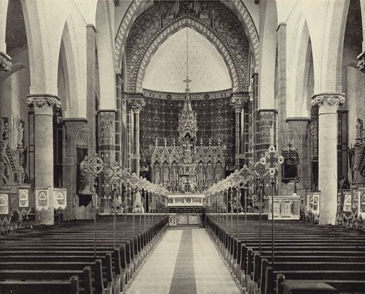St Alphonsus' Church, Limerick. Photograph from Ireland in Pictures (JS Hyland & Co, 1888).