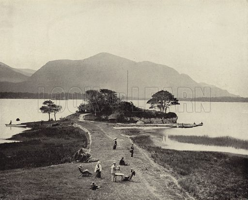 Lower Lake, Killarney. Photograph from Ireland in Pictures (J S Hyland & Co, 1888).