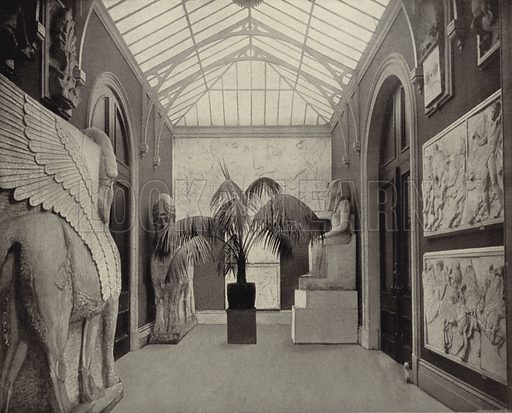 Pagan Statuary, National Gallery, Dublin. Photograph from Ireland in Pictures (JS Hyland & Co, 1888).