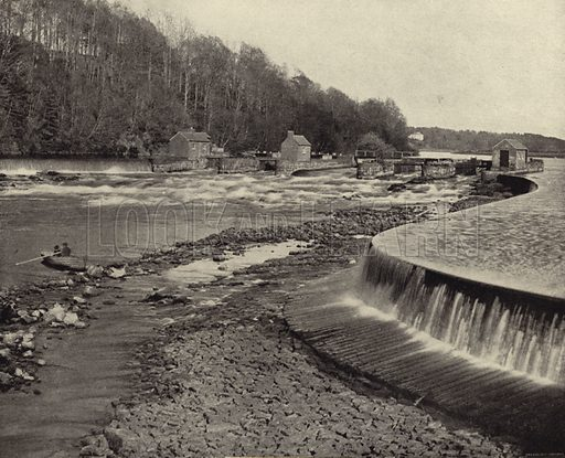 Bann Falls, Co. Derry. Photograph from Ireland in Pictures (J S Hyland & Co, 1888).