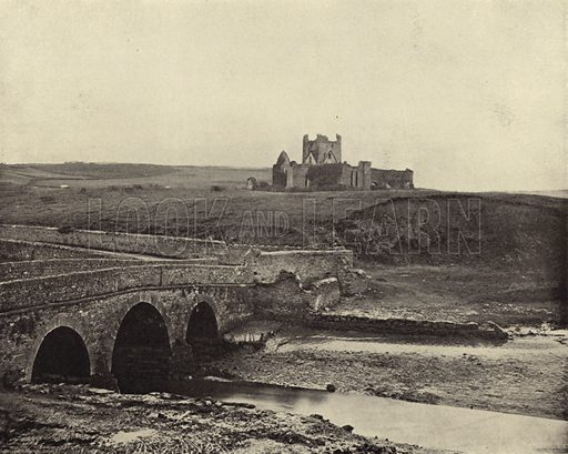 Dunbrody Abbey, Co. Wexford. Photograph from Ireland in Pictures (J S Hyland & Co, 1888).