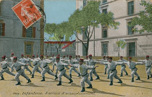 French infantry exercising