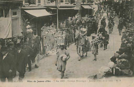 Orleans, Fetes de Jeanne D'Arc, 7 May 1913.  Postcard sent in 1913.