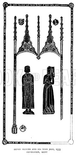 Henry Hatche and his Wife Joan, 1533, Faversham, Kent. Illustration for The Brasses of England by Herbert W Macklin, third edition (Methuen, 1907).