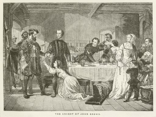 The Arrest of John Brown. Illustration for History of the Reformation in the Sixteenth Century by JH Merle d'Aubigne (Religious Tract Society, c 1885).