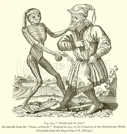 Death and the Jew, picture, image, illustration