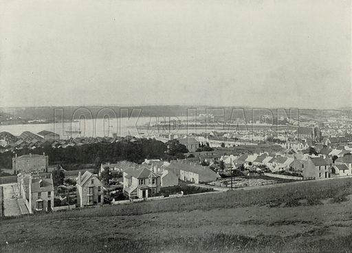 Milford Haven, General View of the Town and the Haven. Photograph from Round the Coast (George Newnes, 1895).
