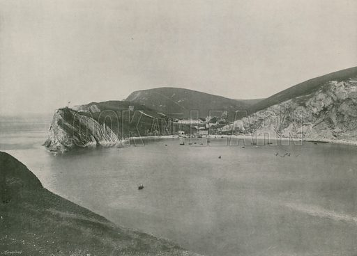 Lulworth, Lulworth Cove and Village. Photograph from Round the Coast (George Newnes, 1895).