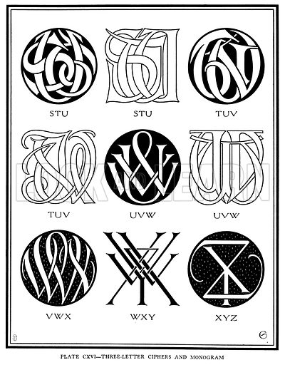 Three Letter Ciphers and Monogram, STU, TUV, UVW, VWX, WXY, XYZ