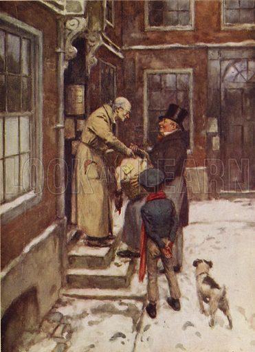 Illustration for A Christmas Carol (Hodder and Stoughton, c 1920).