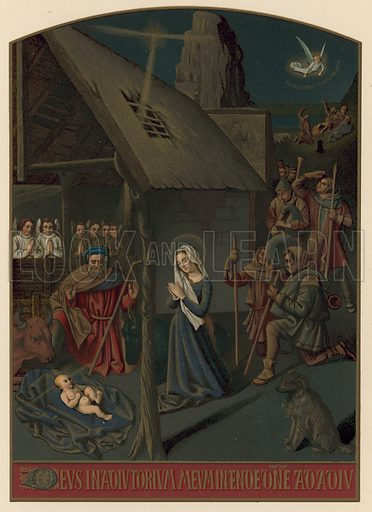 Bethlehem and the Shepherds. Illustration for Military and Religious Life in the Middle Ages the Middle Ages by Paul Lacroix (Bickers, c 1890).