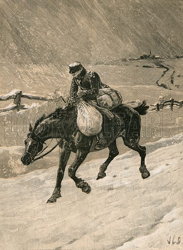 The Christmas Postman. Published in The Pictorial World Christmas Number, 1887.