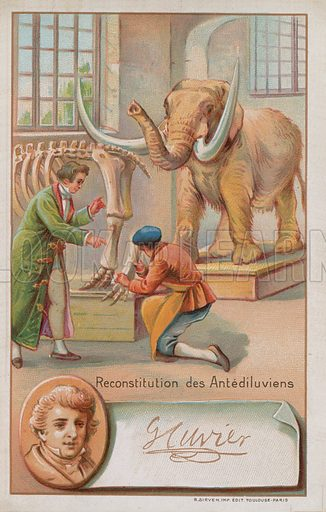 Reconstruction of Antediluvian period by Georges Cuvier, French naturalist and zoologist