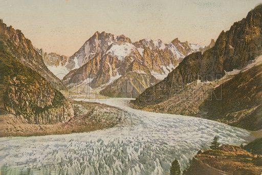 Scenic view of mountains and glacier
