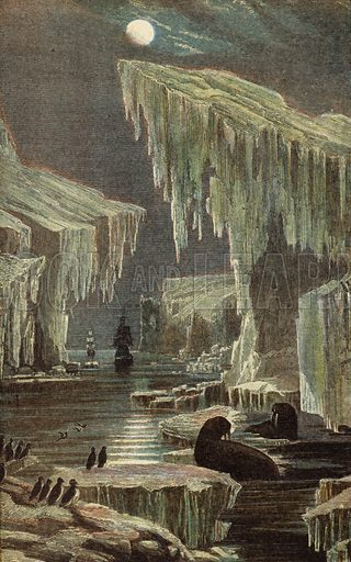 The 'Erebus' and 'Terror' in the Arctic Regions. The ships of Sir John Franklin's expedition, last seen in 1845.